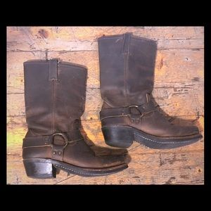 Frye 12R Harness Boots size 8